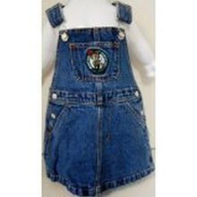 Reebok NBA Officially Licensed Boston Celtics Bib Overall Jean Skirt Dress (4T)