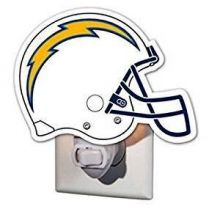 Team Sports America NFL San Diego Chargers 3NT3825DGlass Night Light, Los Angeles Chargers, Helmet, Blue