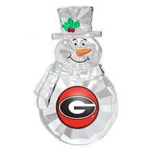 NCAA Georgia Bulldogs Traditional Snowman Ornament