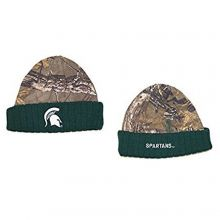 NCAA Officially Licensed Michigan State Spartans Real Tree Ribbed Knit Beanie Ha