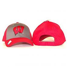 NCAA Officially Licensed Wisconsin Badgers 2-tone Hat Cap Lid