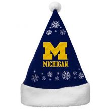 NCAA Michigan Wolverines Full Embroidered Snowflake Santa Hat