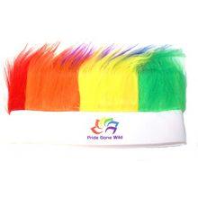 LGBTQ Gay Pride Rainbow Fuzzy Headband Wig