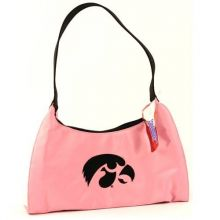 "Littlearth Iowa Hawkeyes Pink Purse Handbag Hobo Bag 13"" X 6"" X 5"""