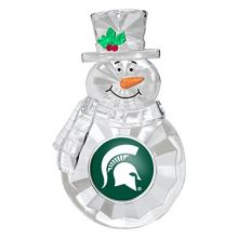 NCAA Michigan State Spartans Traditional Snowman Ornament