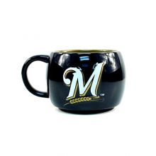 MLB Milwaukee Brewers Stack Relief Mug, 14-ounce