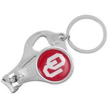NCAA Oklahoma Sooners 3-in-1 Nailclipper Keychain