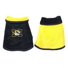 All Star Dogs NCAA Licensed University of Missouri Mizzou Tigers Reversible Double Polar Fleece Dog Jacket (Tiny 2-5 Lbs)