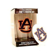 Auburn Tigers Pint and Coaster Set