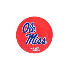 "Bama NCAA Officially Licensed Ole Miss Rebels Repeating Design 4"" Round Magnet"