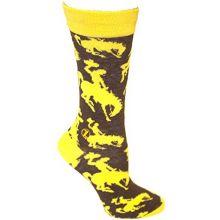 Zoozatz Wyoming CowboysTeam Crew Socks L/XL