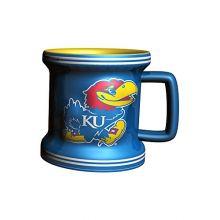 NCAA Kansas Jayhawks Sculpted Mini Mug, 2-ounce