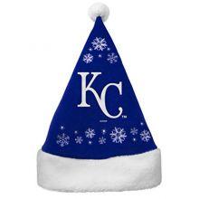 MLB Kansas City Royals Full Embroidered Snowflake Santa Hat