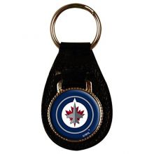 NHL Officially Licensed Leather Key Fob Keychain (Winnipeg Jets)