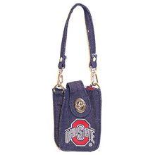 Spirit Ready NCAA Licensed Mini Denim Game Dag Bag (Ohio State Buckeyes)