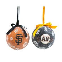 BB Sports San Francisco LED Ball Ornaments Set of 2