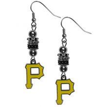"MLB Pittsburgh Pirates Euro Bead Earrings, 7.5"""