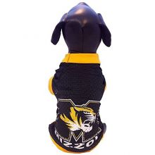 Bama Missouri Mizzou Tigers Licensed Dog Jersey (Tiny 2-5lbs)