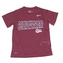 Augusta Sportswear NCAA Licensed Montana Grizzlies Youth Dri-Fit T-Shirt (Size 6)