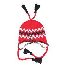 NCAA Licensed Sherpa Lined Tassel Beanie Hat Cap Lid Skull (Nebraska Cornhuskers)