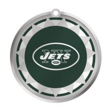 New York Jets Glass Logo Disc Ornament