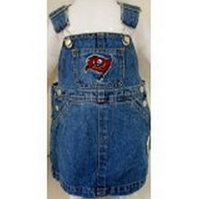 Reebok NFL Officially Licensed Tampa Bay Buccaneers Bib Overall Jean Skirt Dress (24 Months)