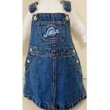 Reebok NBA Officially Licensed Utah Jazz Bib Overall Jean Skirt Dress (3T)