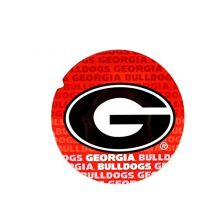"Bama NCAA Officially Licensed Georgia Bulldogs Repeating Design 4"" Round Magnet"