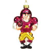 Minnesota Glass Football Player Ornaments - set of 3