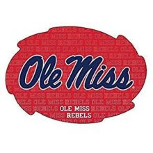 MISSISSIPPI REBELS REPEATING DESIGN SWIRL MAGNET-OLE MISS MAGNET-NEW FOR 2016!
