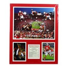 Bama NCAA Officially Licensed Ohio State All-Time Greats Double Matte Photo Collage