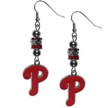 MLB Philadelphia Phillies Earrings Fish Hook Post Euro Style, Team Colors, One Size