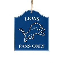 Boelter Brands NFL Detroit Lions Wooden Fan Sign Ornament