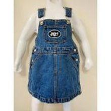 Reebok NFL Officially Licensed New York Jets Bib Overall Jean Skirt Dress (4T)