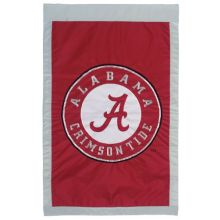 "NCAA Alabama Crimson Tide Double Sided 28"" X 44"" Applique Flag"