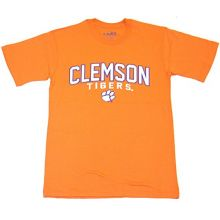 NCAA Officially Licensed Clemson Tigers Embroidered Orange T-Shirt (Large)