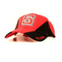 Bama NCAA Licensed NC State Wolfpack Embroidered Two Tone Flex Fit Hat Cap Lid