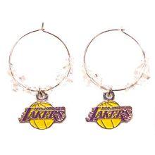 NBA Officially Licensed Los Angeles Lakers Beaded Hoop Earrings