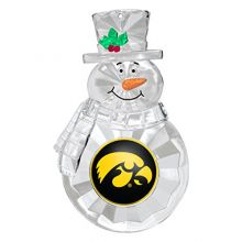 NCAA Iowa Hawkeyes Traditional Snowman Ornament