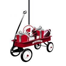 Team Sports America Wisconsin-Madison Badgers Team Wagon Ornament