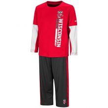 Colosseum University of Wisconsin Badgers Toddler Boy's Long Sleeve Shirt/Pant Set (2T)