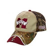 NCAA Licensed Mississippi State Bulldogs Realtree Camo Slouch Fit Baseball Hat Cap Lid