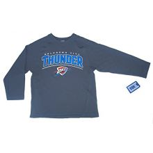 NBA Officially Licensed Oklahoma City Thunder Gray Long Sleeve Youth Shirt (Medium 8/10)