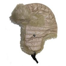 Dekko Original Solid Faux Fur Trapper Ski Hat (Tan)