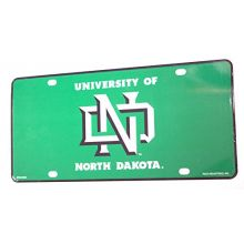 Rico North Dakota Fighting Hawks Aluminum License Plate