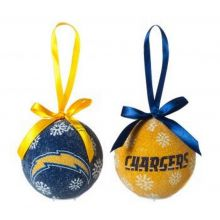 NFL Licensed LED Light-up Ornament Set of 2 (San Diego Chargers)