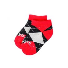 Donegal Bay NCAA Ohio State Buckeyes Unisex Ohio State Baby Argyle No Showohio State Baby Argyle No Show, Scarlet, BAX 12-24 Months