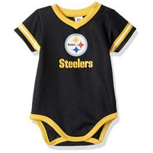 NFL Pittsburgh Steelers Baby-Boy Dazzle Bodysuit, Team Color, 6-12 Months