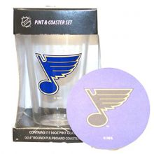 NHL St. Louis Blues Pint Glass and Coaster Set