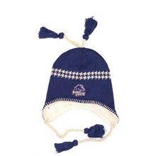 NCAA Licensed Sherpa Lined Tassel Beanie Hat Cap Lid Skull (Boise State Broncos Blue)